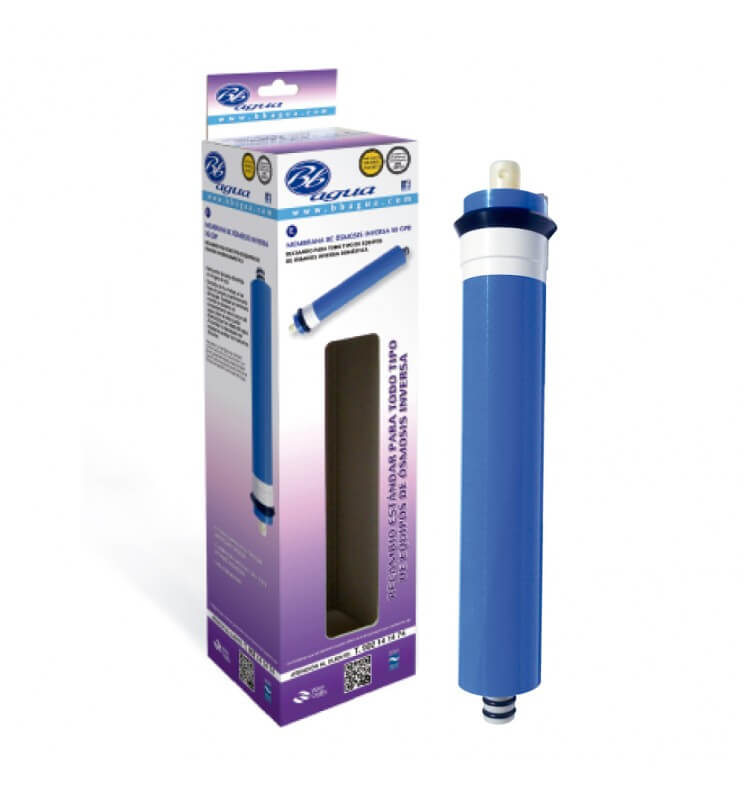 Membranas para equipos purificadores de Osmosis Inversa. Bbagua.