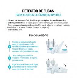 Sistema anti fugas incorporado con conexiones fabricada en material plástico ABS. Bbagua.